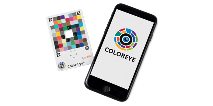 X-Rite Color-Eye® System using Color-Eye calibration card